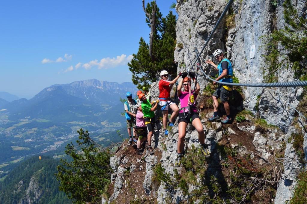 Flying Fox: Seilrolle im Klettersteig
