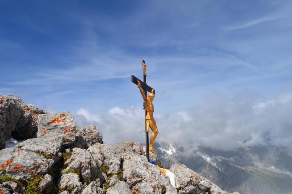 Das Gipfelkreuz am Watzmann Hocheck