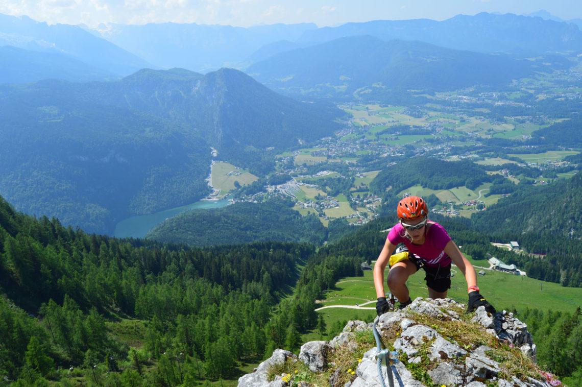 Klettersteig mit Blick zum Königssee
