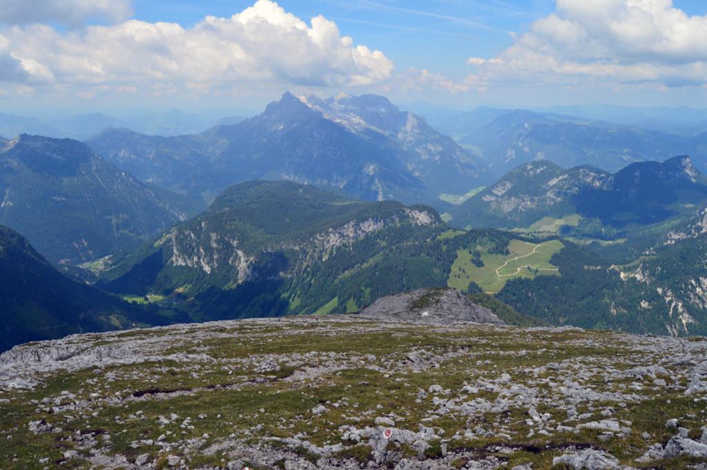 Der Rücken zum Gipfel des Kammerlinghorns