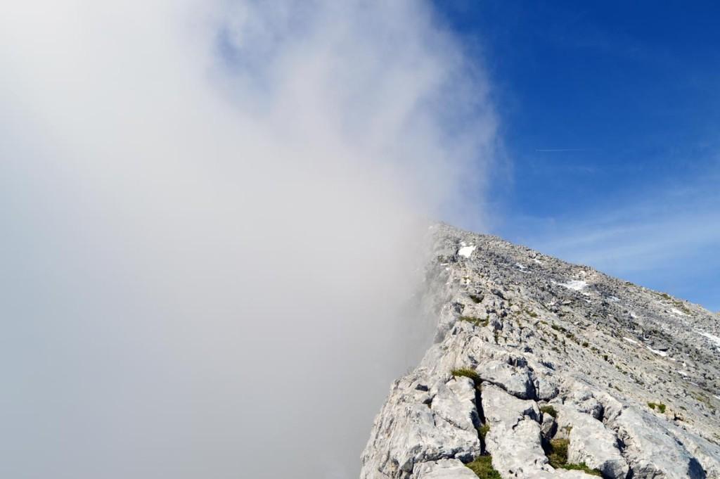 Nebel an der Ostseite des Watzmanns