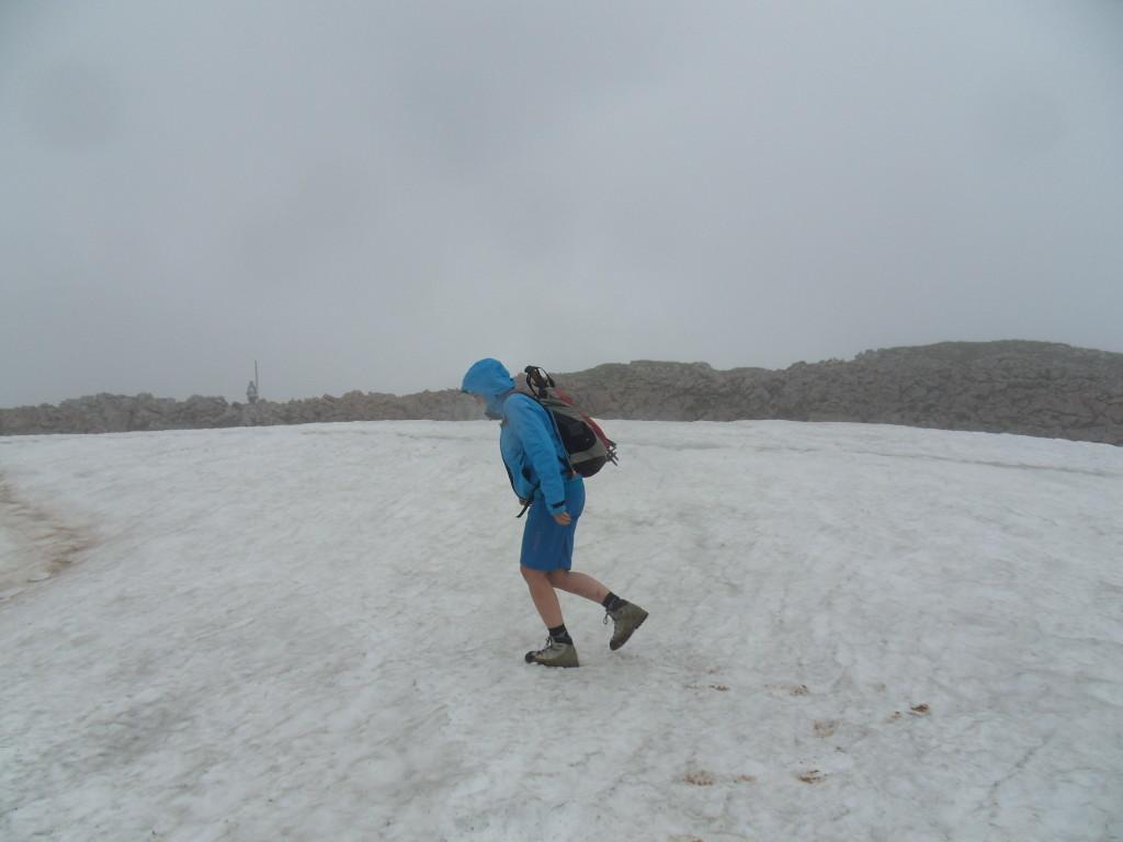 Schnee und Nebel am Schneibstein
