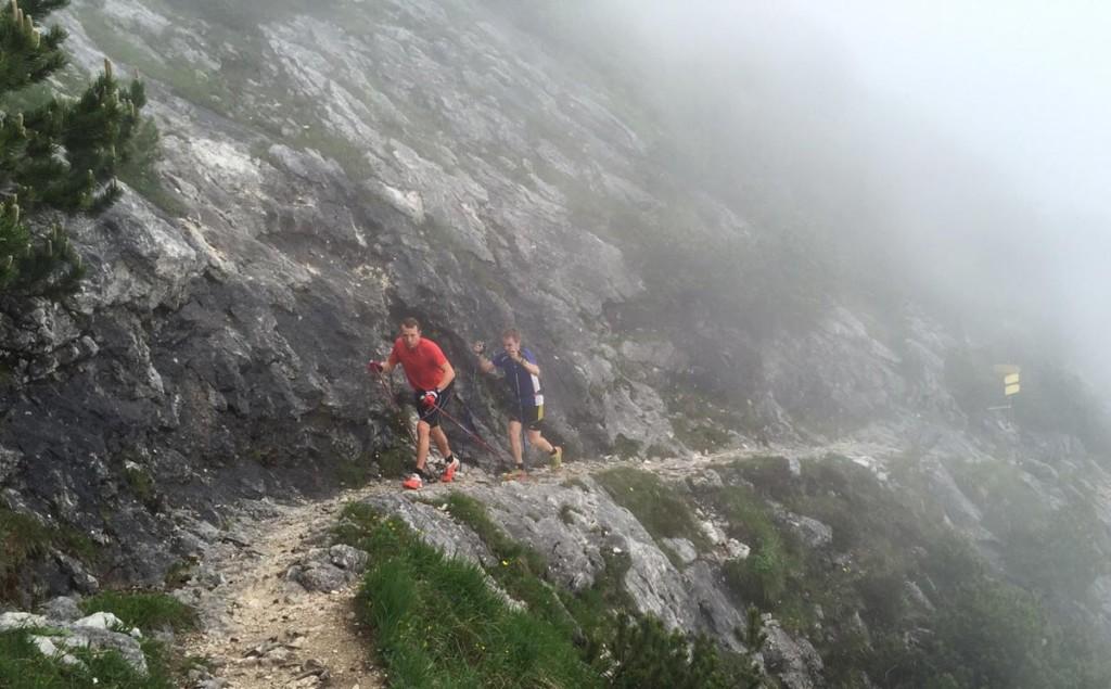 Team Berchtesgaden trainiert auf der ersten Etappe der Salomon 4 Trails