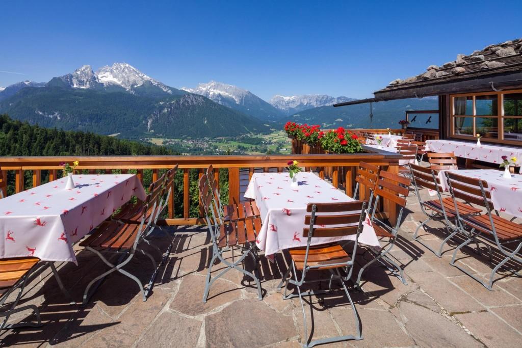 Terrasse Windbeutelbaron Gasthaus Graflhöhe
