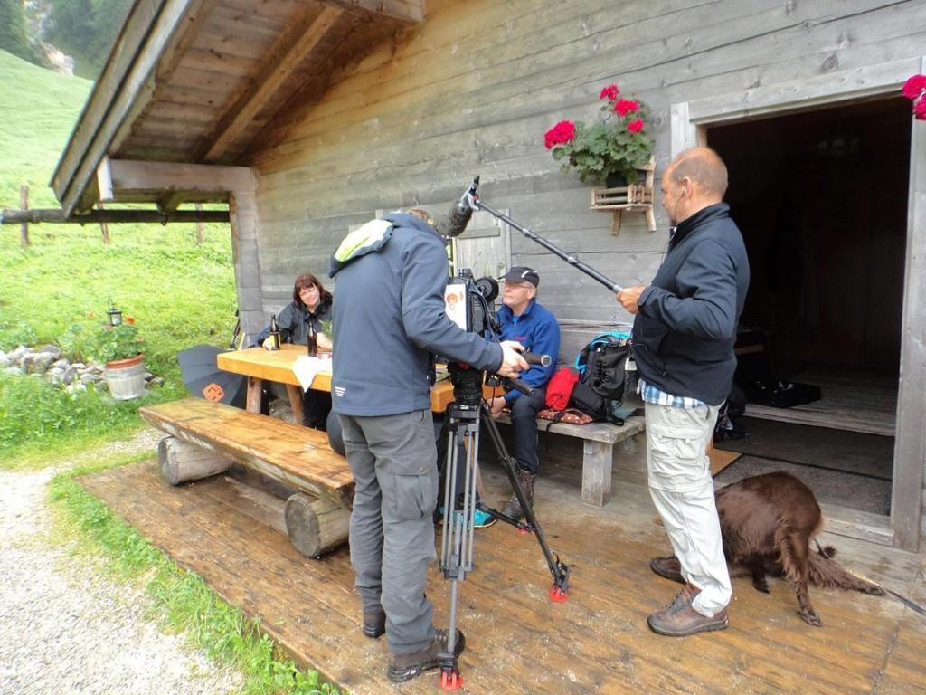 ZDF dreht für Drehscheibe auf der Bindalm