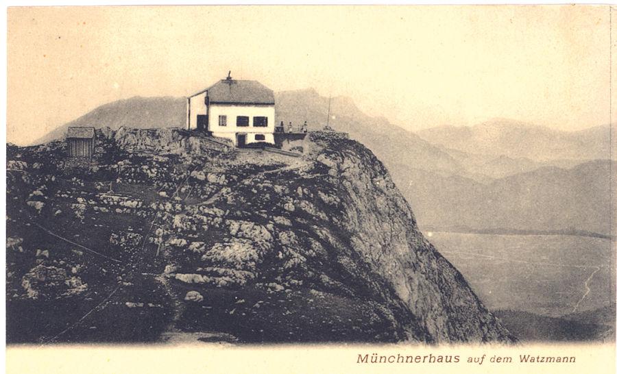 historische Watzmannhauspostkarte