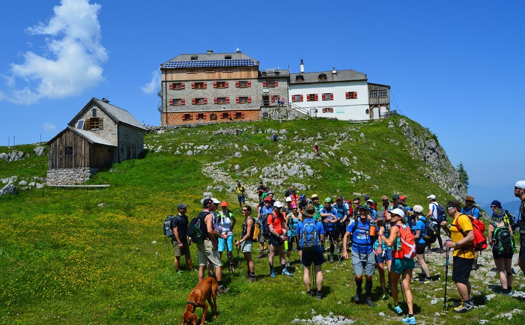 24 Stunden Watzmann extrem Wanderer am Watzmannhaus