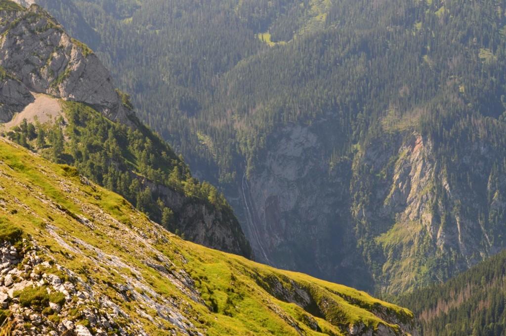 Blick vom Kahlersberg zum Röthbachfall