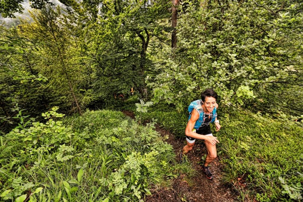 ^Cilly Schreyer, beste e´heimische Dame bei den Salomon 4 Trails