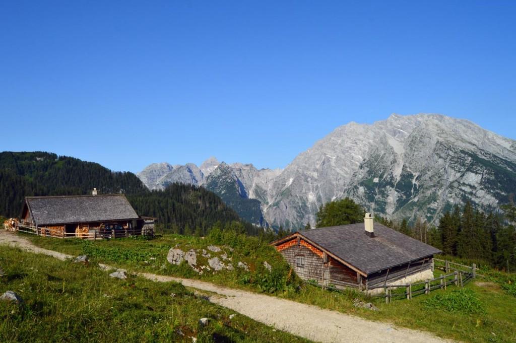 Priesbergalm mit Blick zur Watzmann-Ostwand