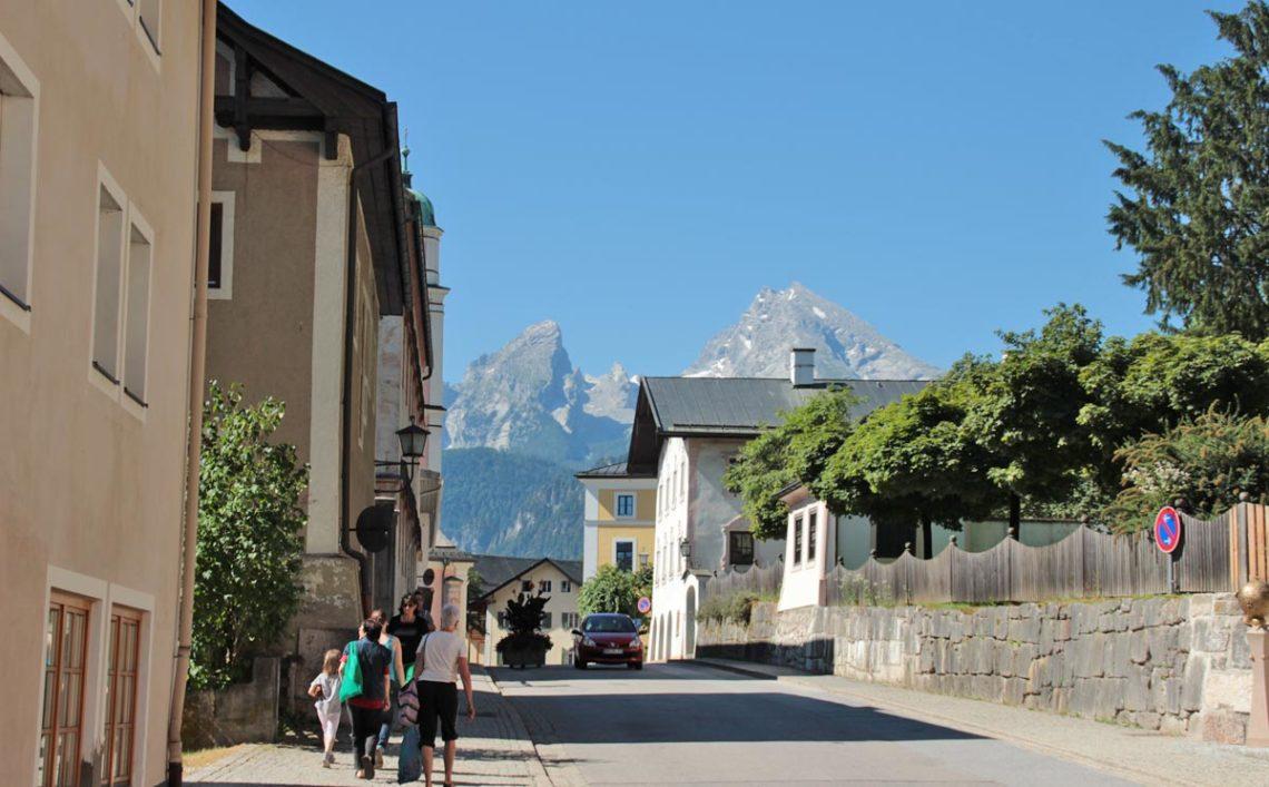 Berchtesgaden Nonntal, Blick auf den Watzmann