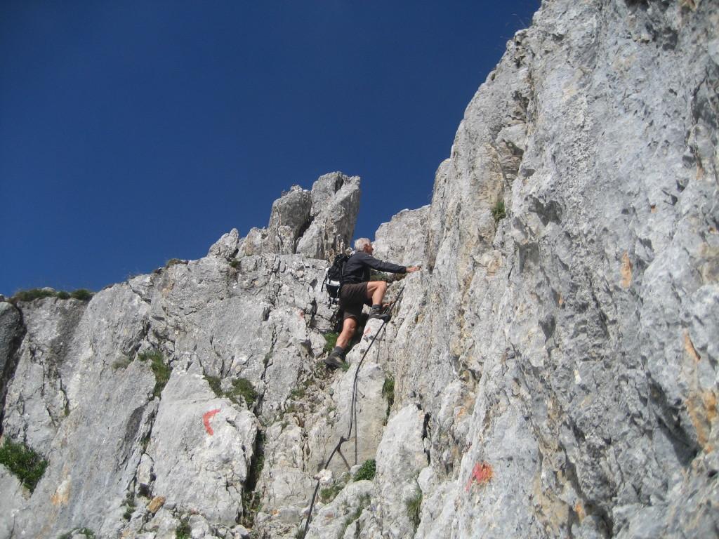 Kletterstelle auf dem Nuaracher Höhenweg