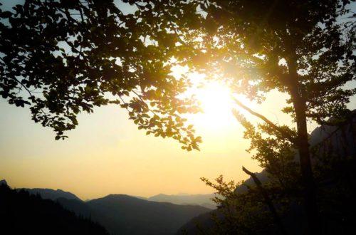 Nichts für Langschläfer! Beim Mediencamp des Nationalparks mussten die Teilnehmer sehr früh raus aus den Federn, um dem Sonnenaufgang am Schaflsteig im Klausbachtal zu erleben.