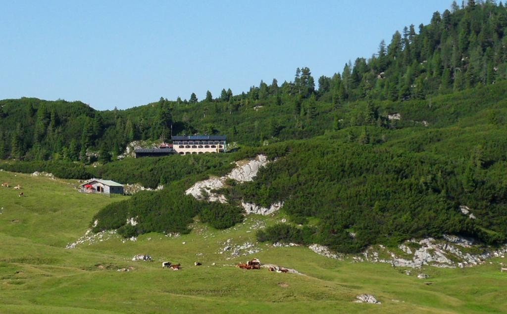 Die neue Traunsteiner Hütte auf der Reiter Alm