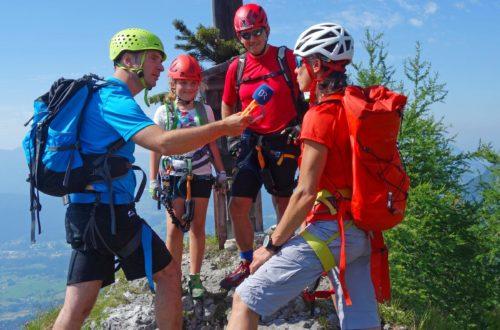 Auf dem Gipfel des kleinen Jenner nach dem Klettersteig