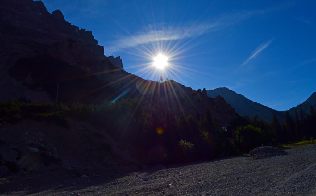 Gegen die tiefstehende Sonne