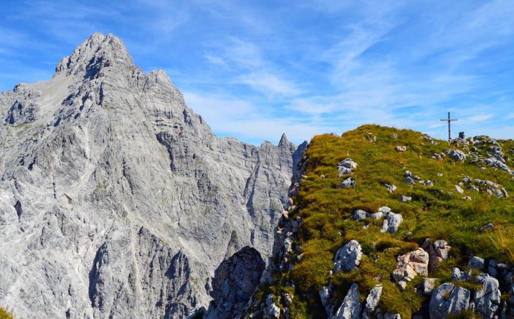 Der Hirschwieskopf vor der Südspitze des Watzmanns