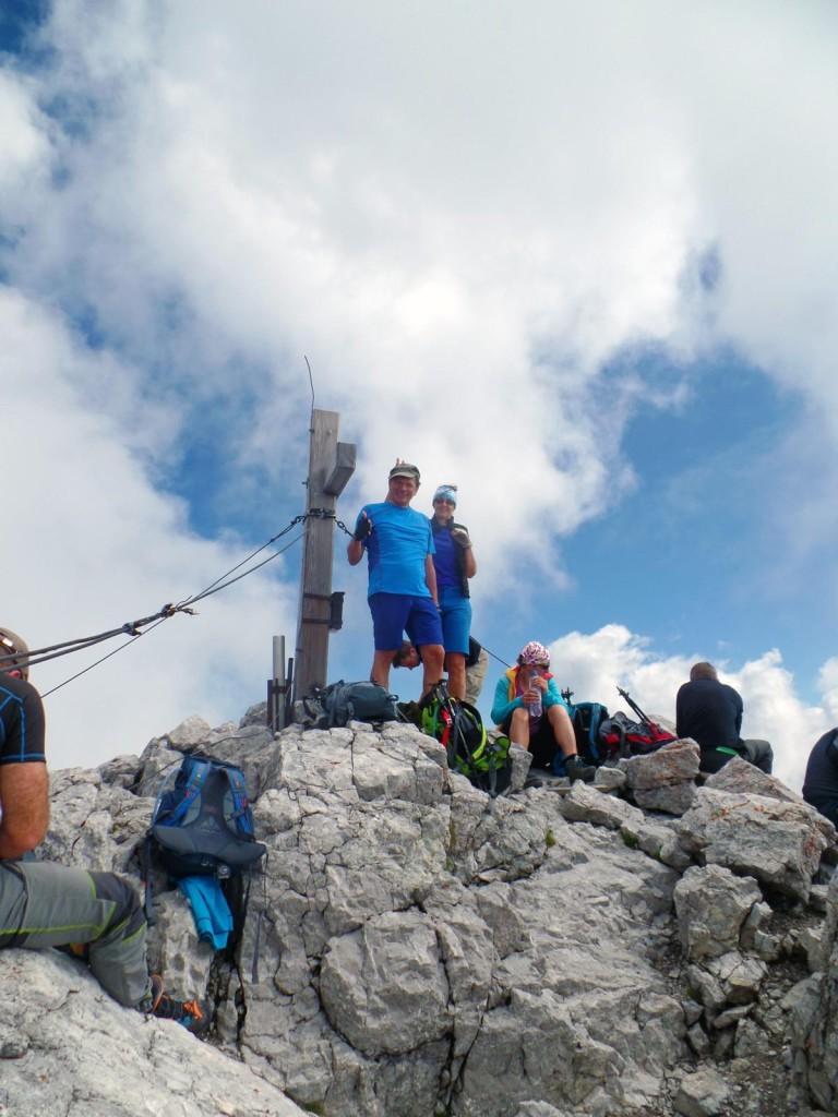 Am Hochkalter-Gipfel