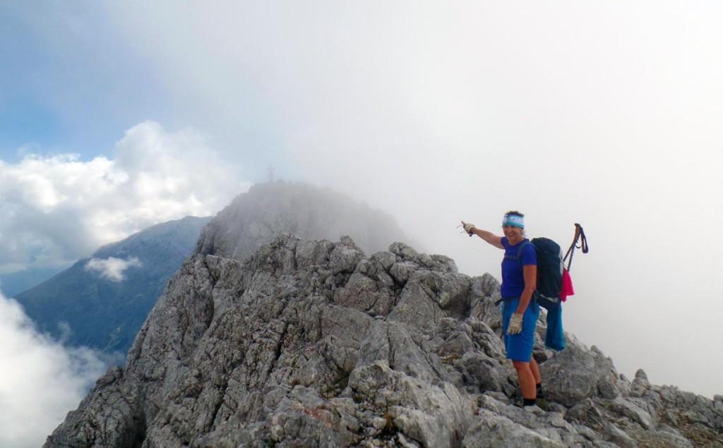 Der Gipfel des Hochkalter (2.607 Meter) in Wolken