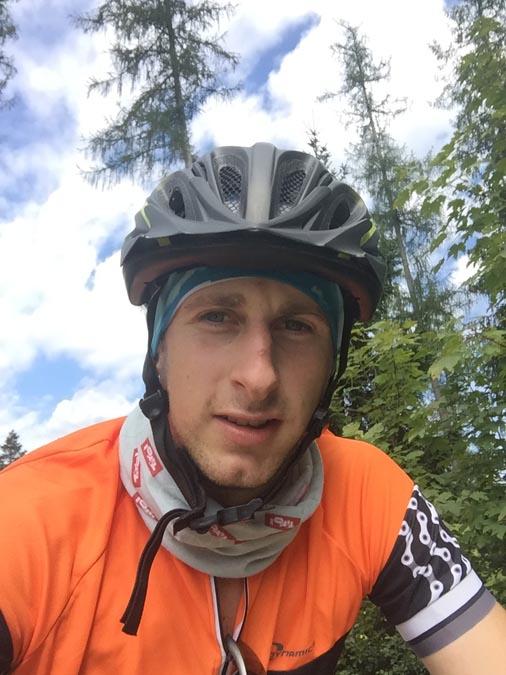 Mountainbiker Selfie