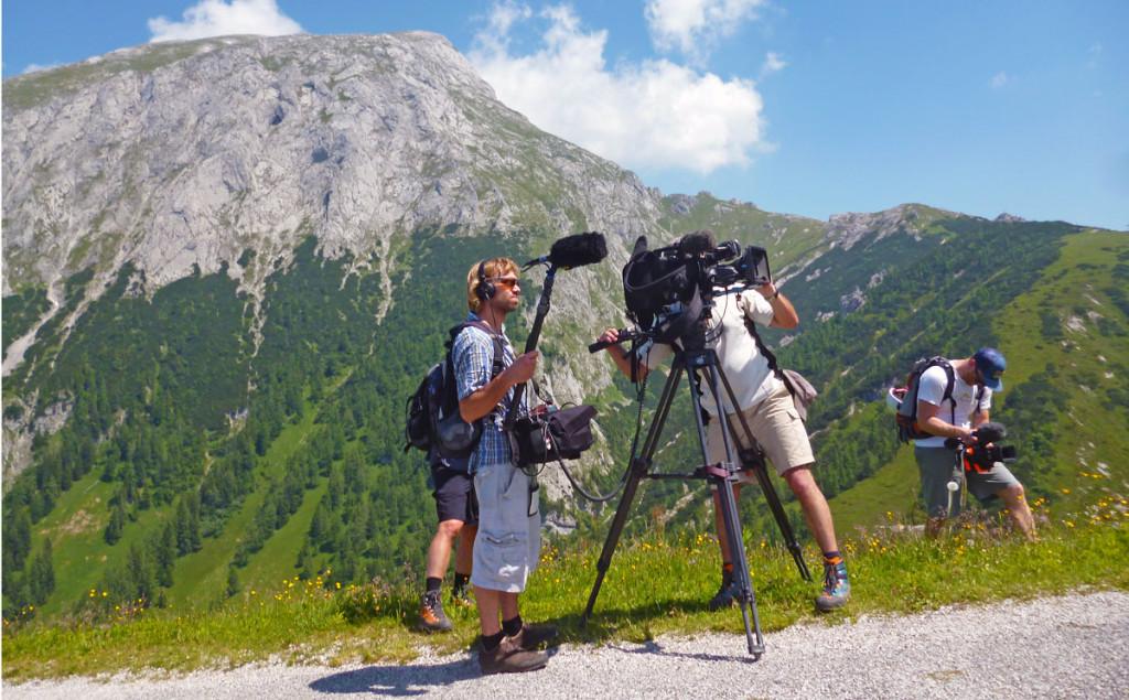 Das Kamerateam des Bayerischen Fernsehens