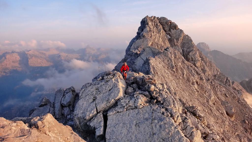 Lauf über den Wazmann 2713m von der Mittelspitze zum Hocheck © Andreas Wiesinger/andi rennt