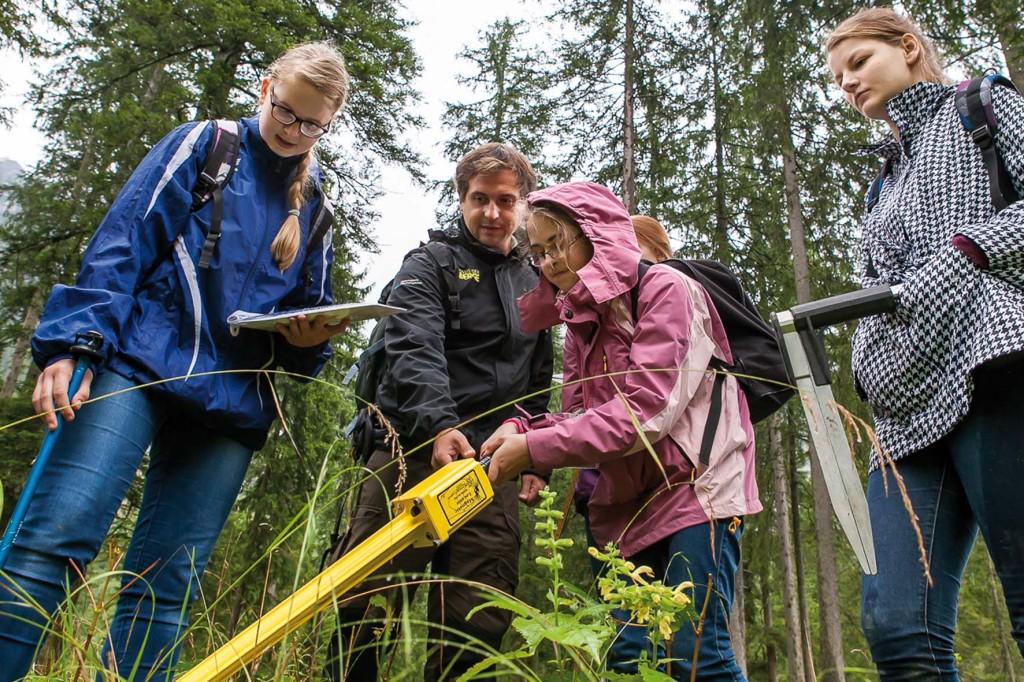 Schüler helfen bei Waldinventur im Nationalpark Berchtesgaden © privat