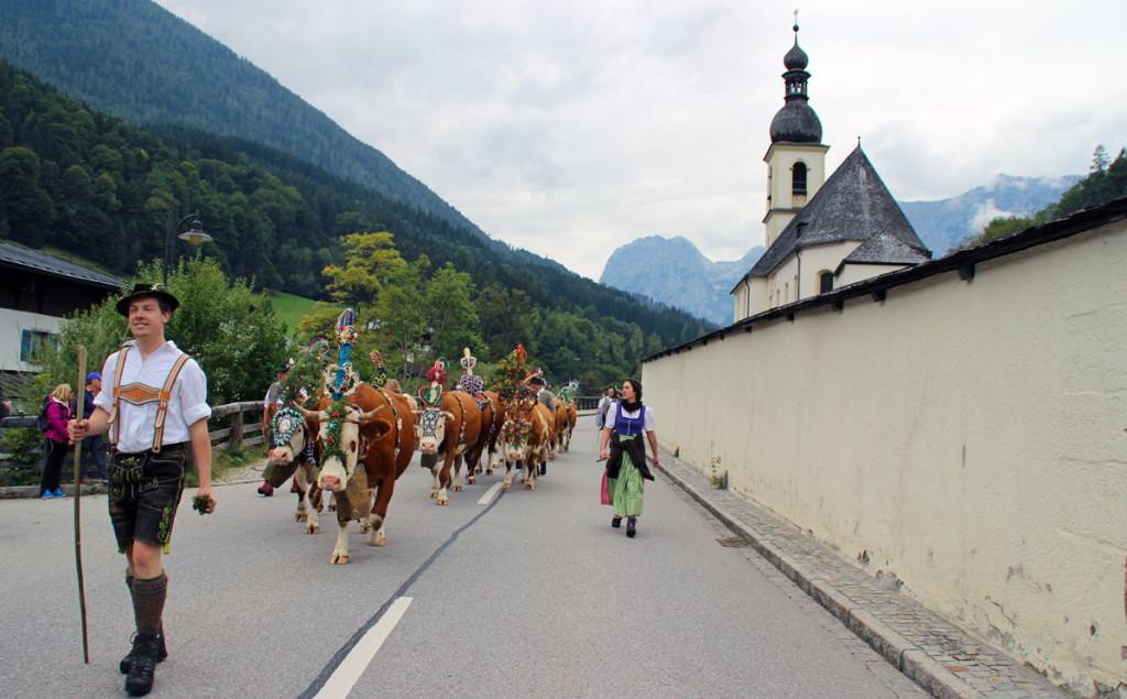 Almabtrieb im Bergsteigerdorf Ramsau