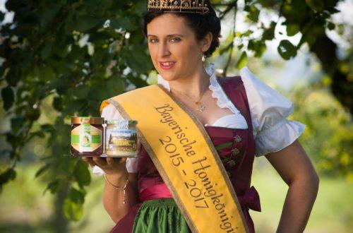 Die Bayerische Honigkönigin Sabrina Moriggl