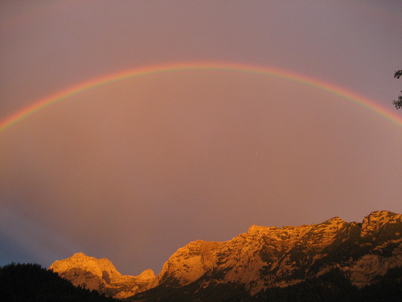 Pin kreuz regenbogen himmel 3d tapeten foto auf dem for Tapeten land