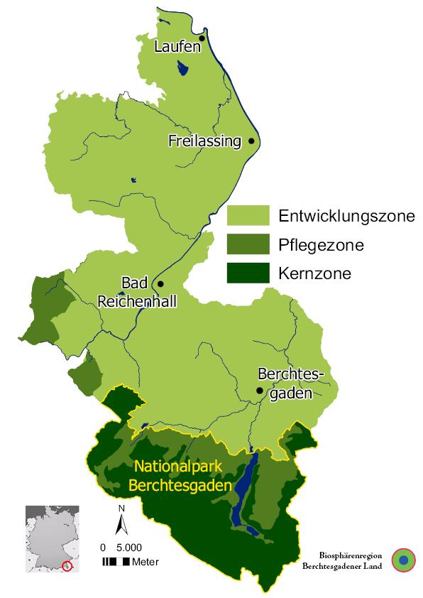 Karte Biosphärenregion
