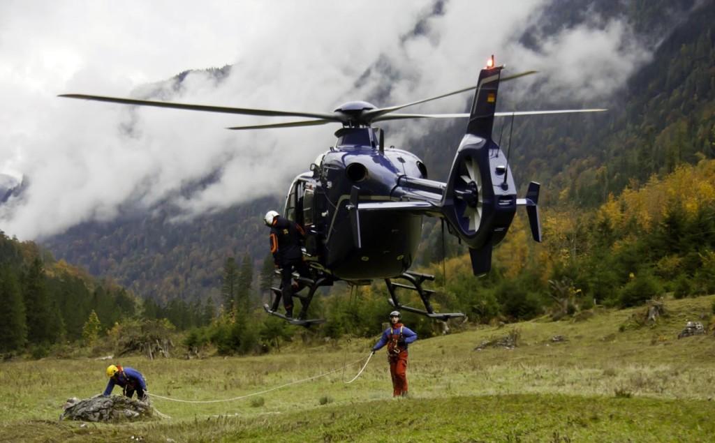 Bergwacht Übung mit Hubschrauber © BRK BGL
