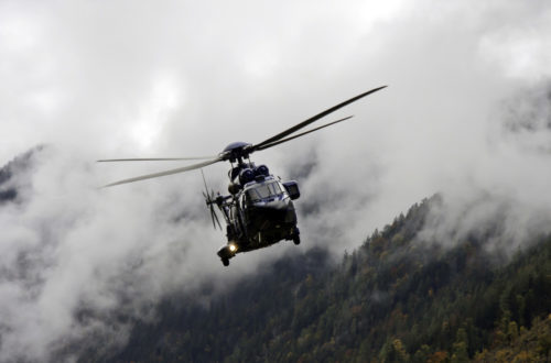 Der Hubschrauber im Einsatz © BRK BGL