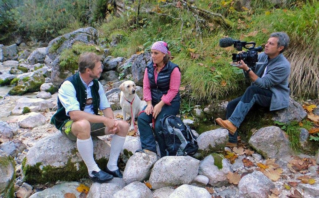 Ramsaus Tourismusdirektor Fritz Rasp beim Interview im Zauberwald