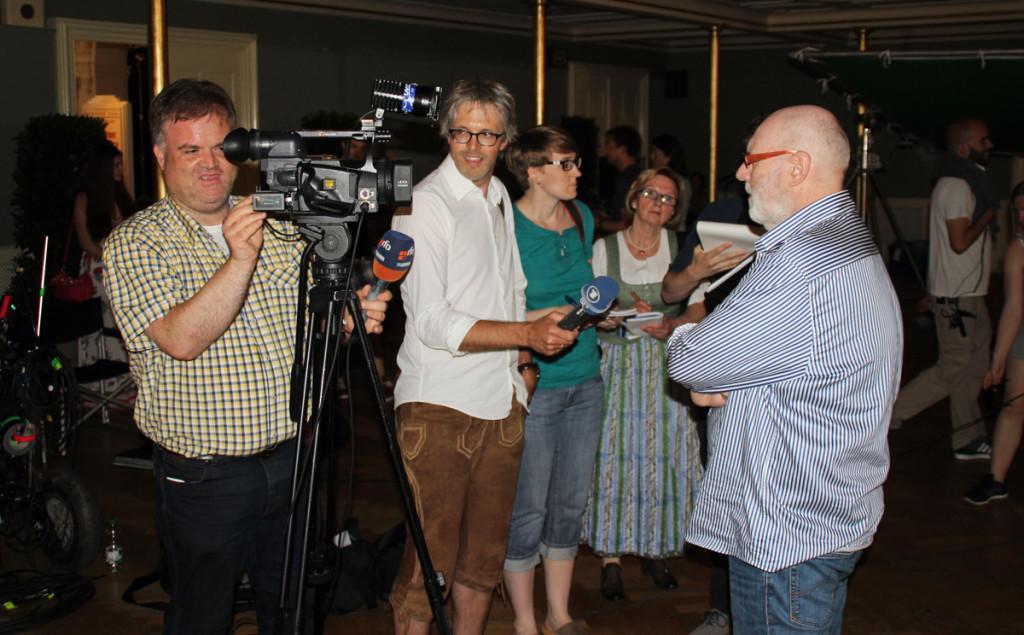 Regisseur Ben Verbong im Gespräch mit den Journalisten