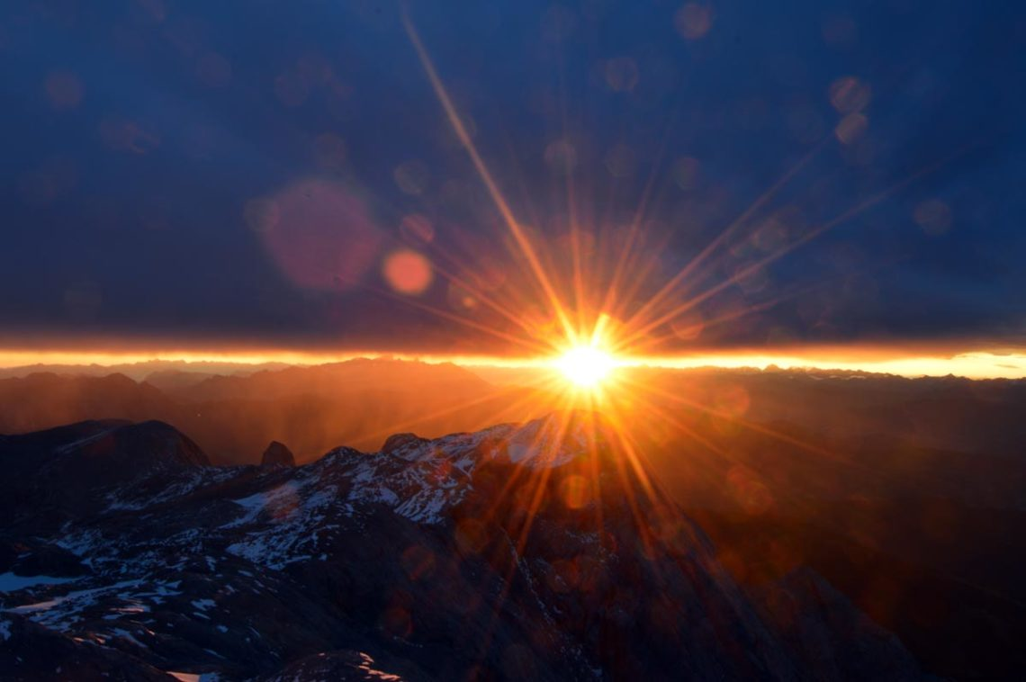 Die Sonne geht auf am Hochkönig