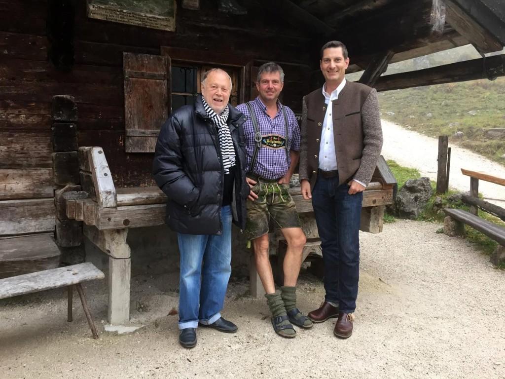 Vilsmaier, Hubsi und Grassl-Geschäftsführer Florian Beierl
