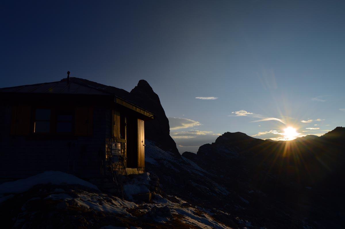Sonnenuntergang am Wildalmkircherl
