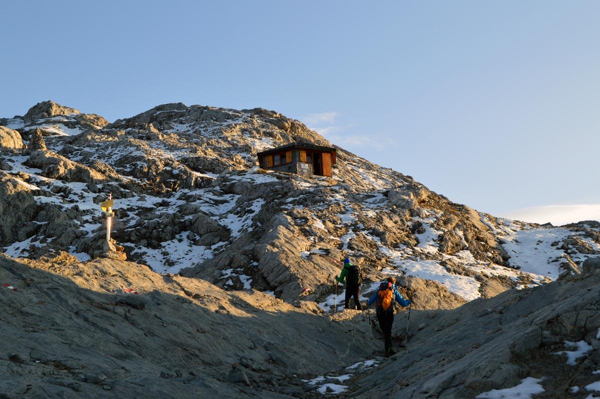 Die Biwakhütte am Wildalmkirchl