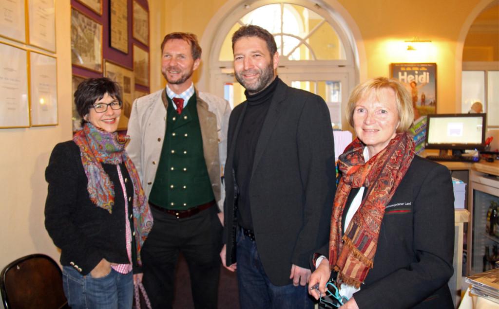 Ursula Wischgoll (BGLT), Fritz Rasp (Touristinformation Ramsau, und Karin Mergner (BGLT) ©Thoma-Bregar