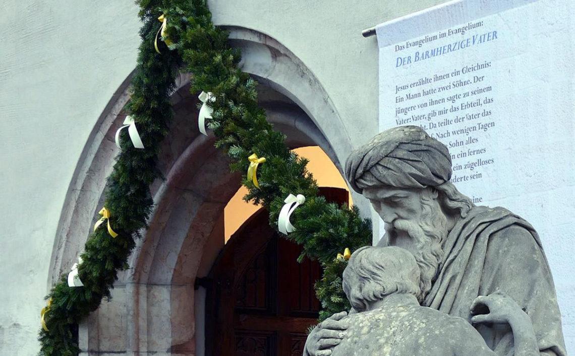 Das Nordportal der Stiftskirche Berchtesgaden