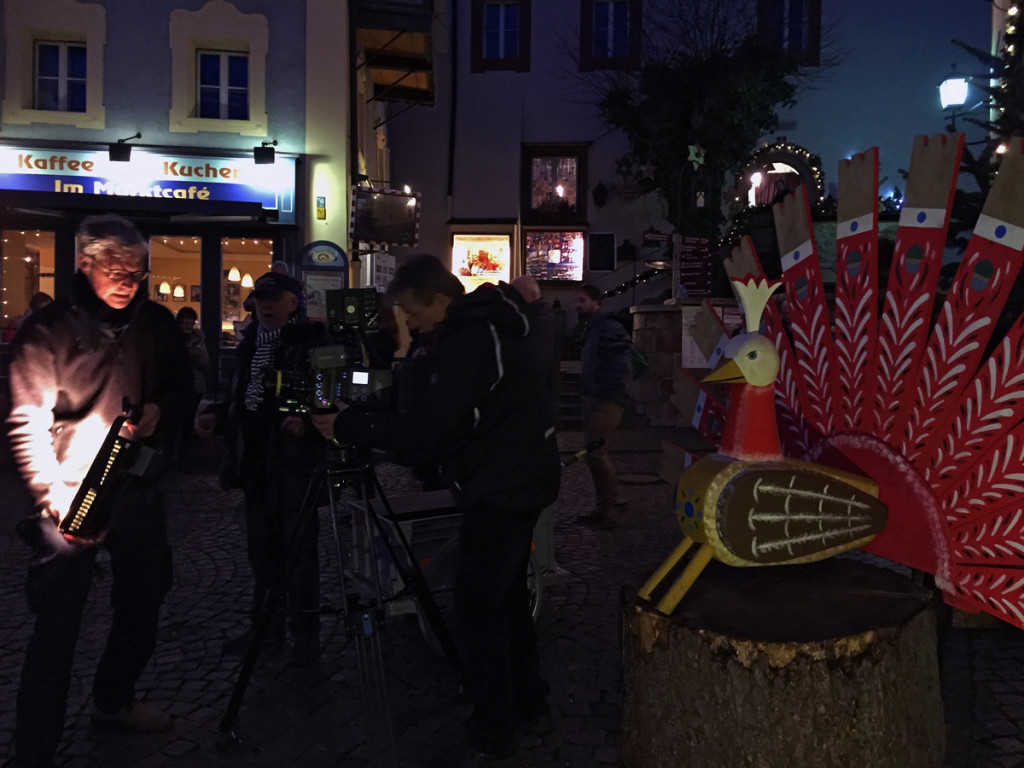 Joseph Vilsmaier bei Dreharbeiten am Berchtesgadener Advent