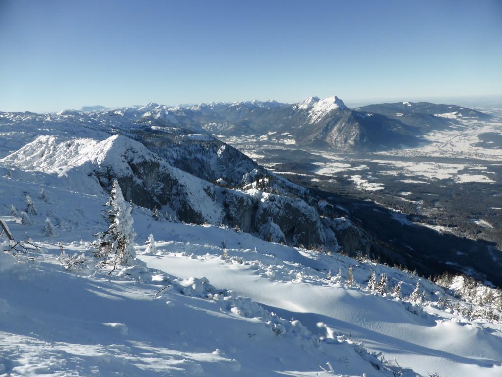 Untersberg mit Blick auf den Hochstaufen