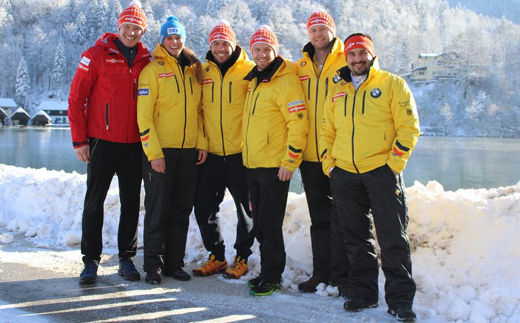 Trainingsgruppe Sonnenschein mit Trainern am Königssee