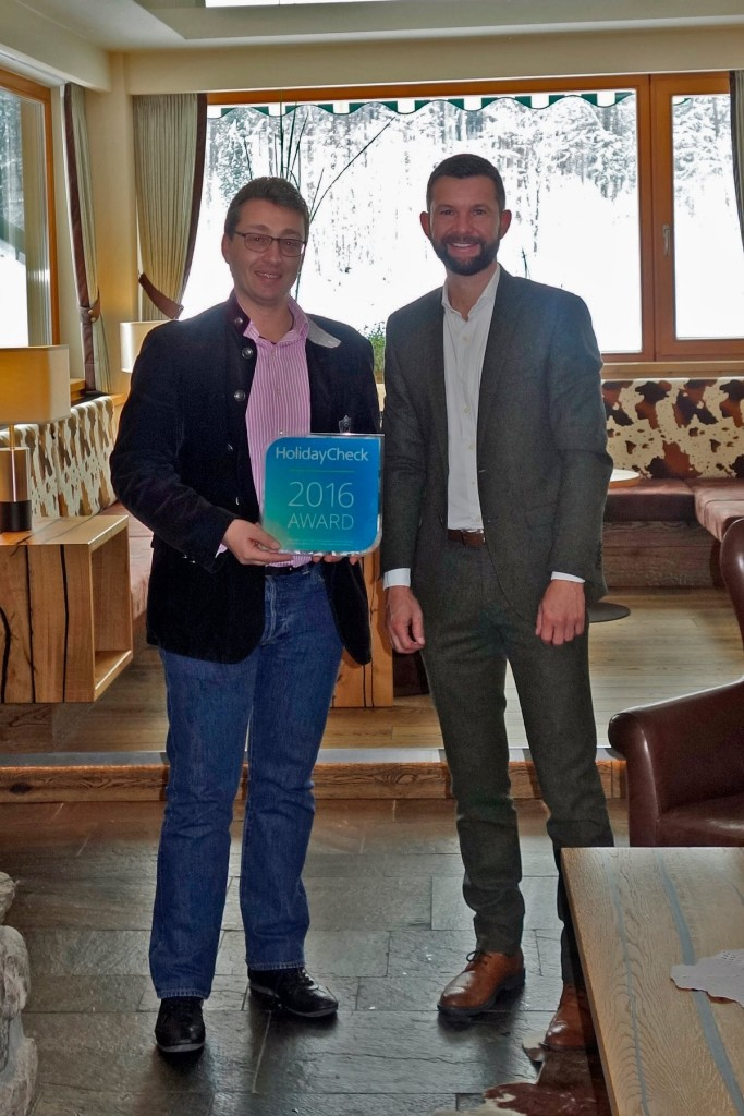 Hotelier Stefan Zapletal übernimmt den Holiday-Check Award 2016