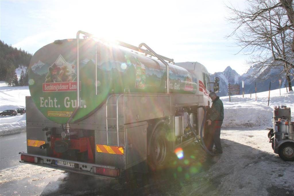 Bergbauernmilchabholung am Hochschwarzeck