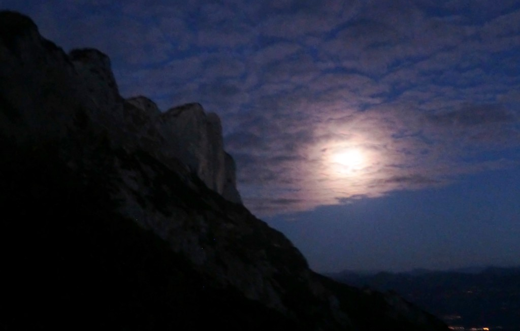 Vollmond am Berchtesgadener Hochthron