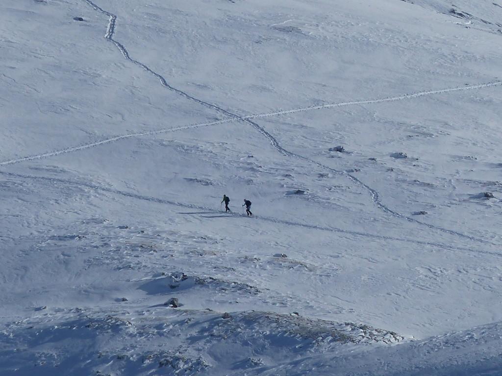 Tourengeher im Aufstieg zum Schneibstein