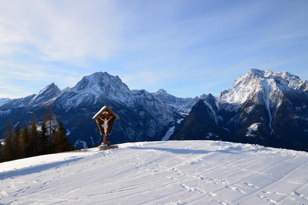 Ausblick vom Hirschkaser zu Watzmann, Wimbachtal und Hochkalter