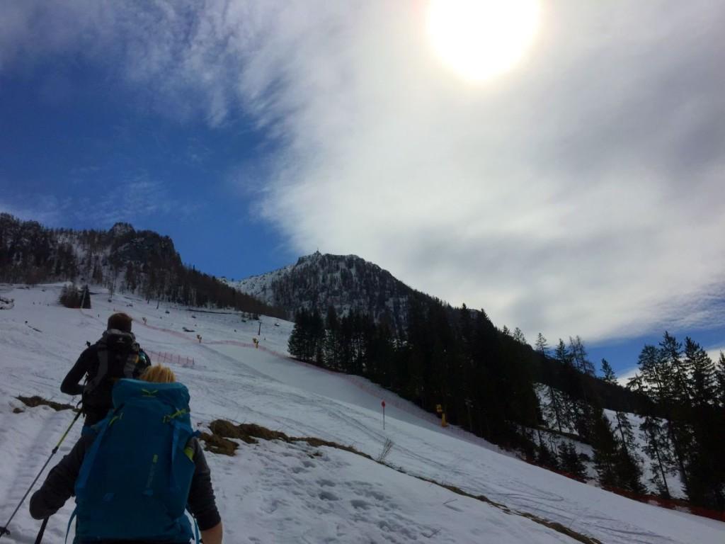 Im Skigebiet herrschen noch beste Bedingungen
